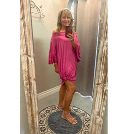 The Ritzy Gypsy RASPBERRIES Ruffle Sleeve Dress with Knot Detail