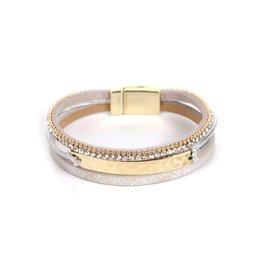 The Ritzy Gypsy MIA Multi Strand Leather Bracelet- Cream