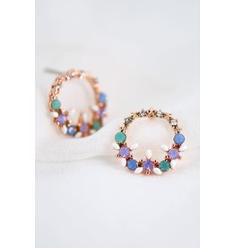 The Ritzy Gypsy MALLORY Circle Crytal Earring