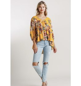The Ritzy Gypsy CARRIE Floral V-Neck Blouse