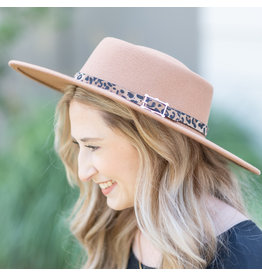 The Ritzy Gypsy PIPER brown leopard floppy hat