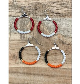 The Ritzy Gypsy BOWL GAME Beaded Earring