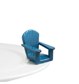 Nora Fleming CHILLIN' CHAIR Mini (Blue Beach Chair)