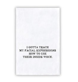 Face to Face FACIAL EXPRESSIONS Thirsty Boy Towel