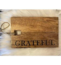 The Ritzy Gypsy GREATFUL Wood Board