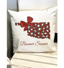 The Ritzy Gypsy BOOMER SOONER Cottage Pillow
