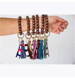 The Ritzy Gypsy WOODEN BEADS KEY RING