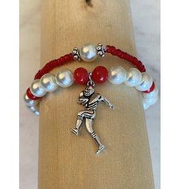 The Ritzy Gypsy FOOTBALL PLAYER Charm Bracelet Set
