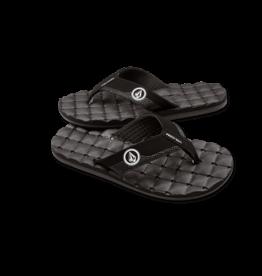 VOLCOM VOLCOM Recliner Sandal Black White