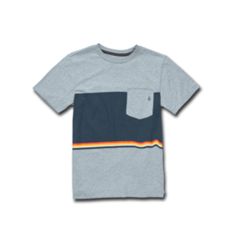 VOLCOM VOLCOM 6Quarter Ss Pocket Tee Youth Arctic Blue