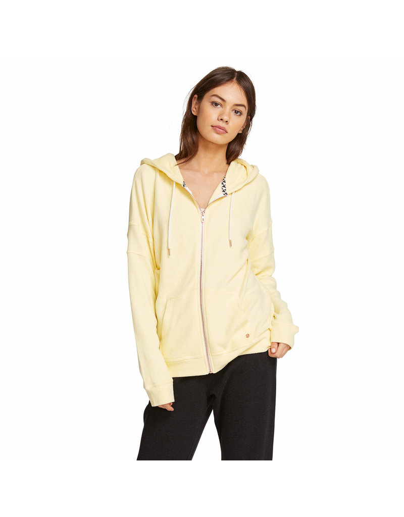 VOLCOM VOLCOM Lil Zip Fleece Hoodie Faded Lemon