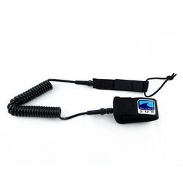 BLU WAVE BLU WAVE 10' Coil Ankle Leash (Black)
