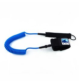 BLU WAVE BLU WAVE 10' Coil Ankle Leash (Blue)