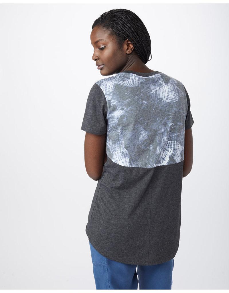 TENTREE TENTREE Palmy Aop Pocket Tee Meteorite Black/Palmy Aop Meteorite