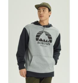 BURTON BURTON Oak Pullover Hoodie Gray Heather / True Black