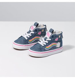 VANS VANS Sk8-Hi Zip (Rainbow Sidestripe) Denim/True White