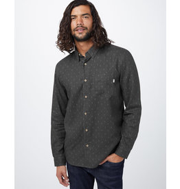 TENTREE TENTREE Mancos Button Up Coal Black/Free Game AOP