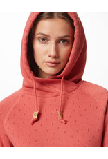 TENTREE TENTREE W Burney Hoodie Mineral Red/Small Tree AOP