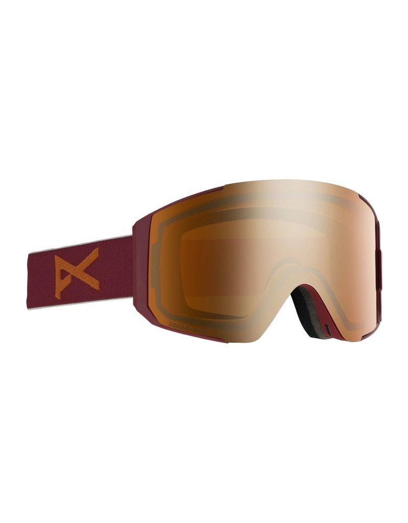 ANON BURTON Sync Goggle + Bonus Lens Maroon/Sonar Bronze