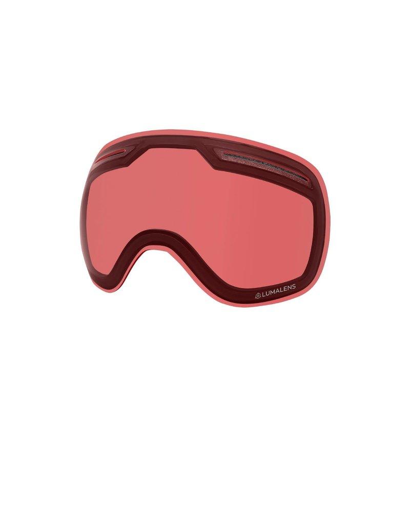 DRAGON DRAGON X1 Black with Lumalens Red Ionized Lumalens Rose Lens