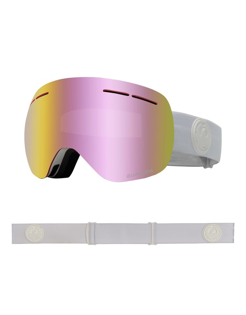 DRAGON DRAGON X1s Whiteout with Lumalens Pink Ionized Lumalens Dark Smoke Lens