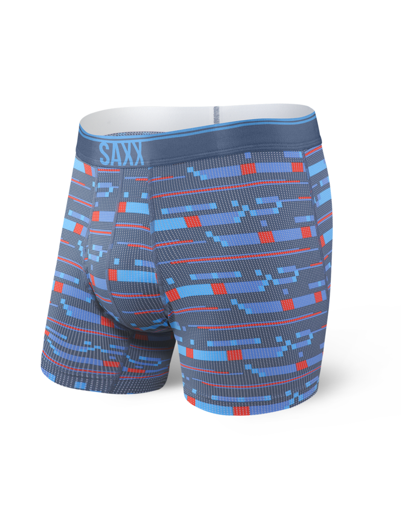 SAXX SAXX Quest Boxer Brief Fly - Blue Assembly Stripe