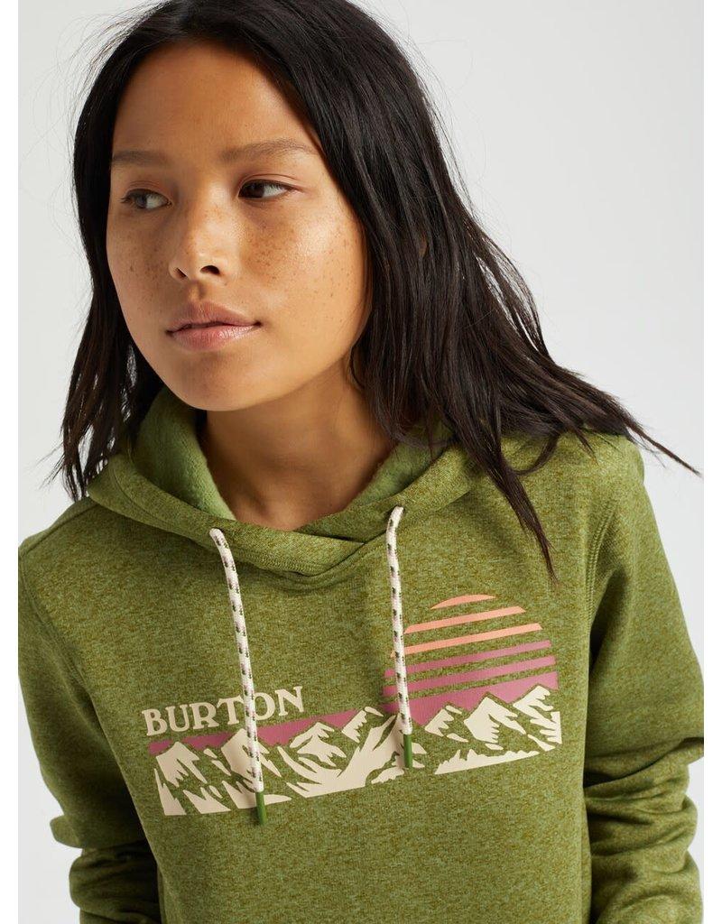 BURTON BURTON Women's Oak Pullover Pesto Green Heather