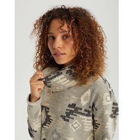 BURTON BURTON Women's Ellmore Premium Pullover Hoodie Phantom Crooked Kilim Jacquard