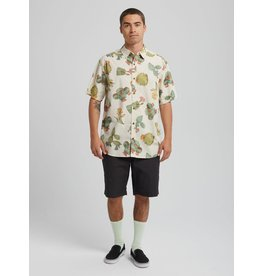 BURTON BURTON Men's Shabooya Camp Short Sleeve Shirt Cactus