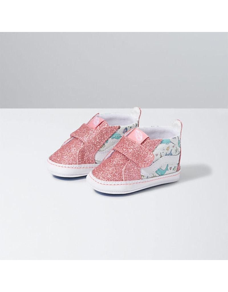 VANS VANS Sk8-Hi Crib (Shark Party) Pink Icing/true White