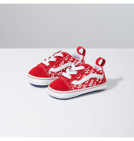 VANS VANS Old Skool Crib (Logo Repeat) Racing Red/true White
