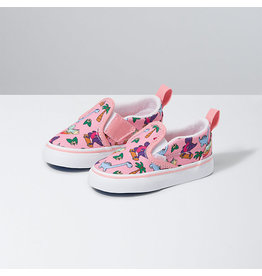 VANS VANS Slip-On V (Surf Dinos) Pink Icing/true White