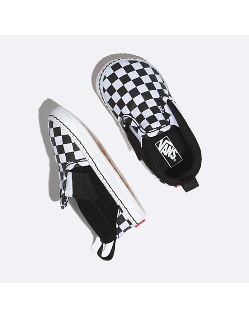 VANS VANS Slip-On V Crib (Checker) Black/truewhite