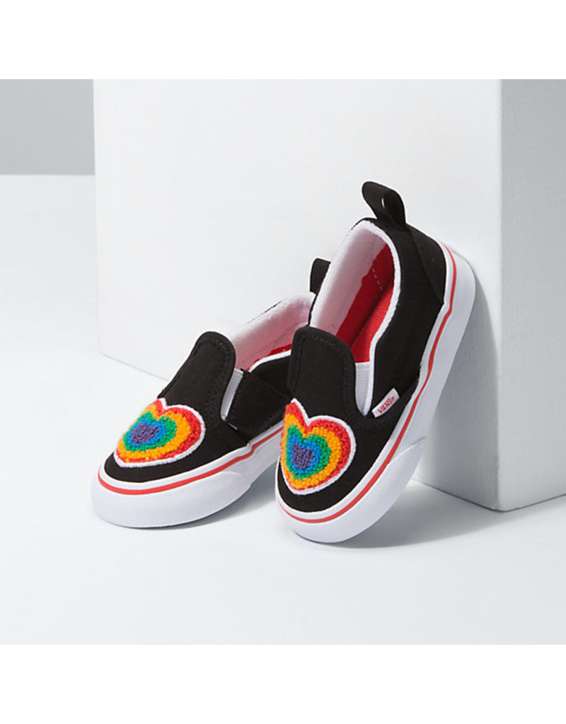 VANS VANS Slip-On V (Chenille) Rainbow Heart/true White