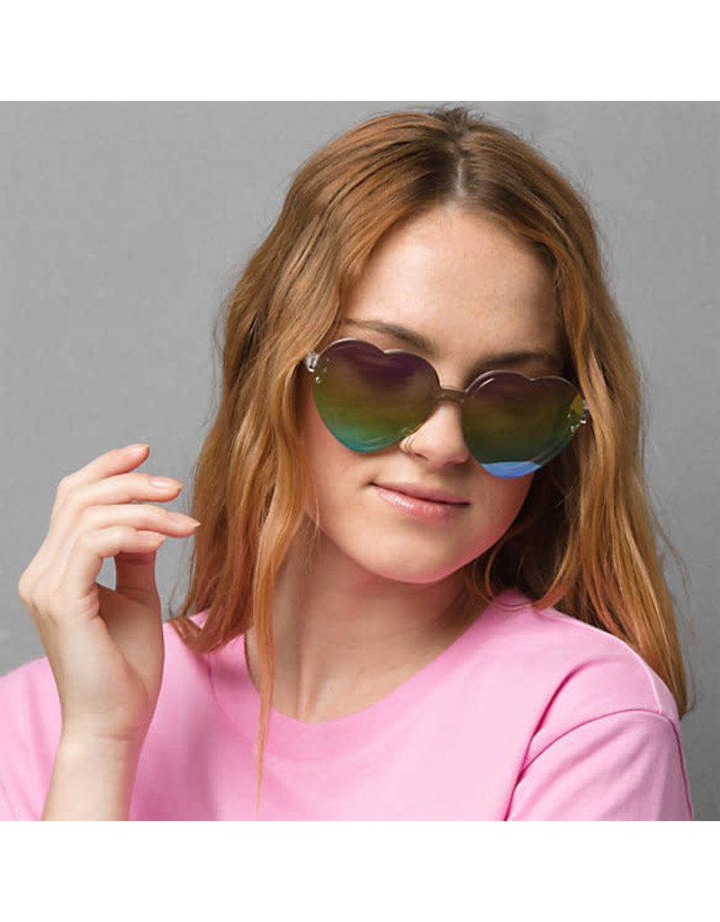 VANS VANS Rainbow Heart Sunglasses Clear/Rainbow Mirror Lens