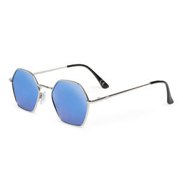 VANS VANS Right Angle Sunglasses Silver/Blue Mirror Lens