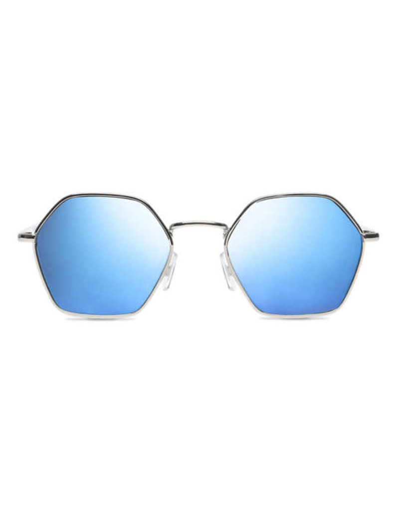 VANS VANS Right Angle Sunglasses Silver/Blue Mirror Lens