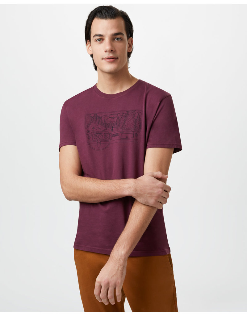 TENTREE TENTREE Nomad Cotton Classic T-Shirt Merlot Red