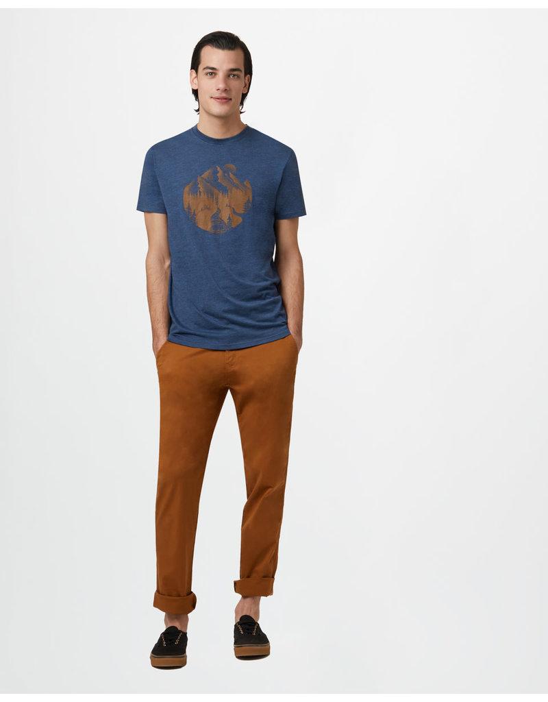 TENTREE TENTREE No Trace Classic T-Shirt Dark Ocean Blue Heather