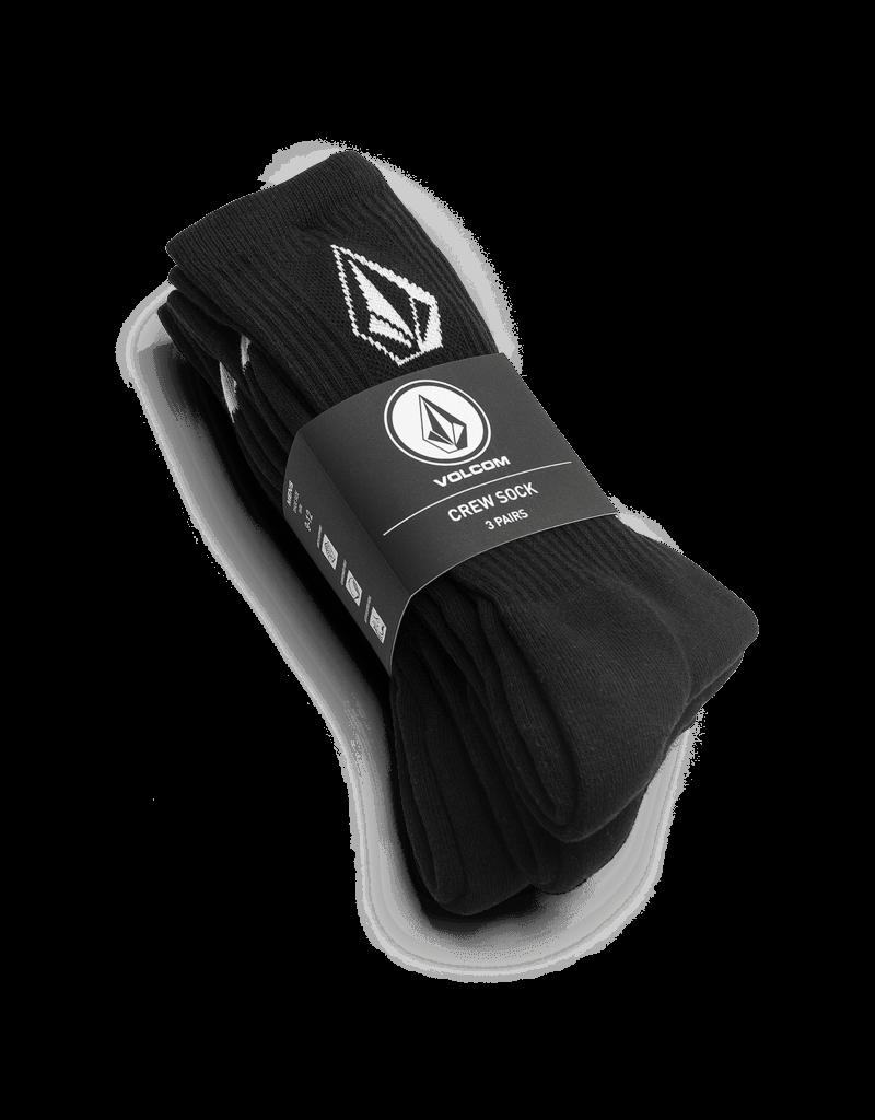 VOLCOM VOLCOM Full Stone Sock 3Pk Black