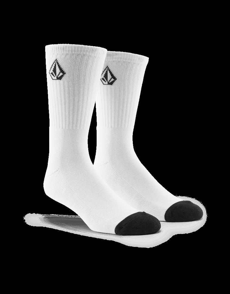 VOLCOM VOLCOM Full Stone Sock 3Pk White