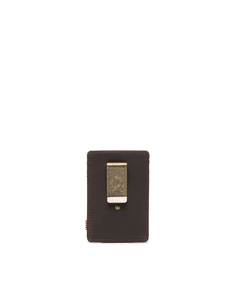 HERSCHEL HERSCHEL Raven Leather RFID Nubuck Brown