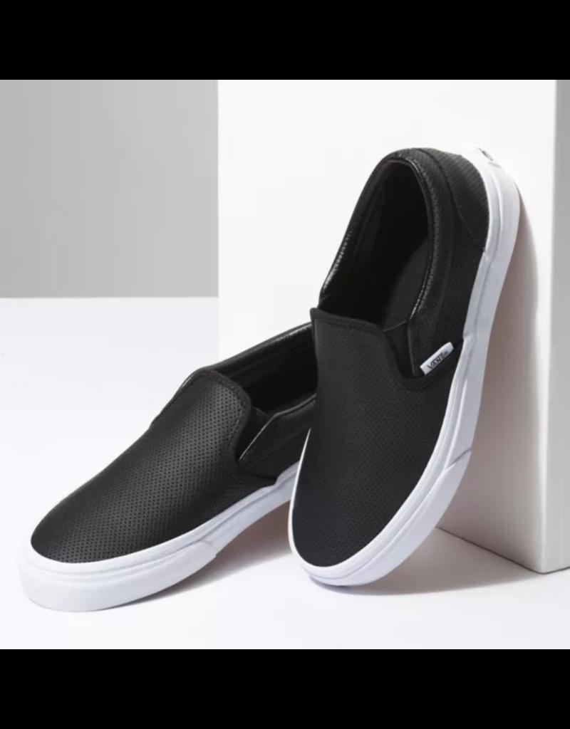vans classic slip on perf leather