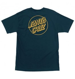 SANTA CRUZ SANTA CRUZ T-Shirt Opus Dot Harbor Blue/Gold