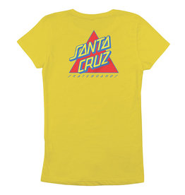 SANTA CRUZ SANTA CRUZ Girls Tee Not A Dot Vibrant Yellow
