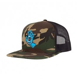 SANTA CRUZ SANTA CRUZ Trucker Hat Screaming Hand Front Camo/Black