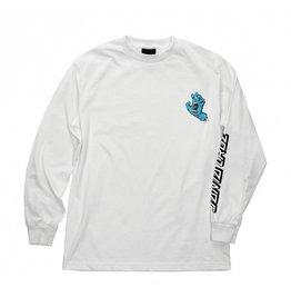 SANTA CRUZ SANTA CRUZ L/S T-Shirt Screaming Hand White