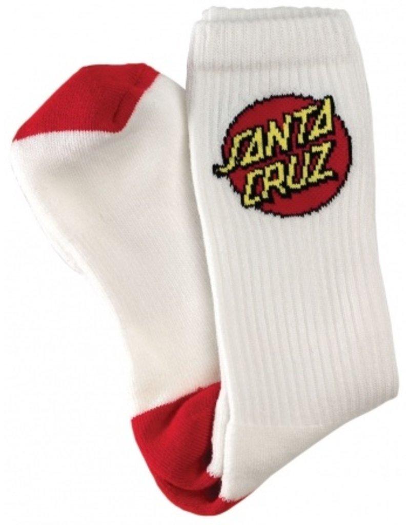 SANTA CRUZ SANTA CRUZ Crew Socks Cruz 2 Pairs White