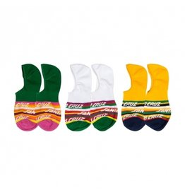 SANTA CRUZ SANTA CRUZ Womens Socks Cruz Stripe 3Pk Assorted