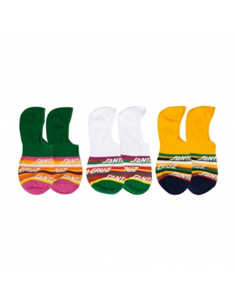 SANTA CRUZ SANTA CRUZ Womens Socks Cruz Stripe 3Pk Assorted